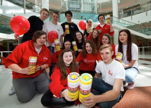 Recruits charity collection Braehead